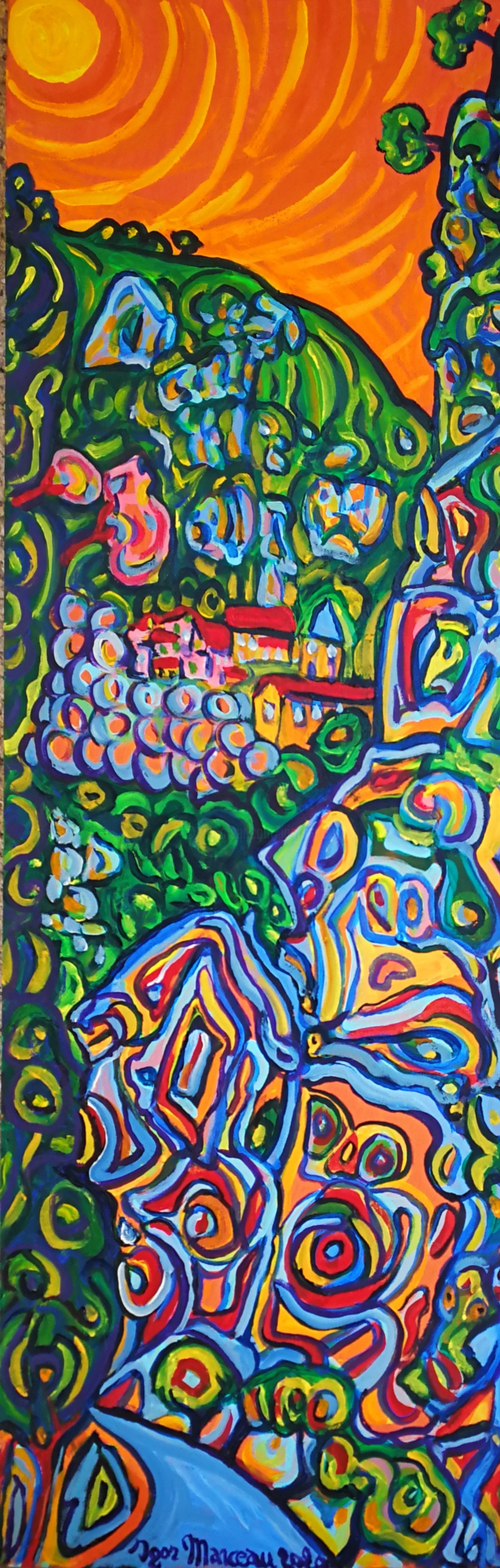 Igor Marceau - Comme un poireau planté dans la gorge de la Vésubie, Pelasqu