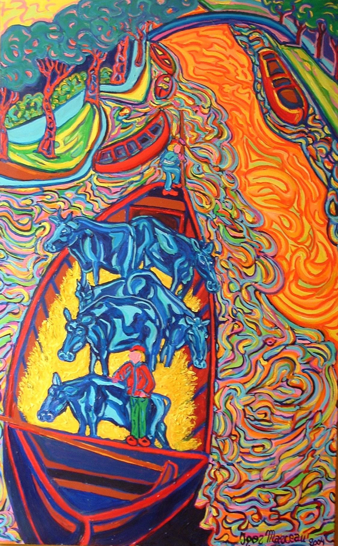 Igor Marceau - Transport de vaches entre 2 paturages
