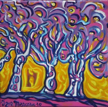 Soir romantique sous les arbres