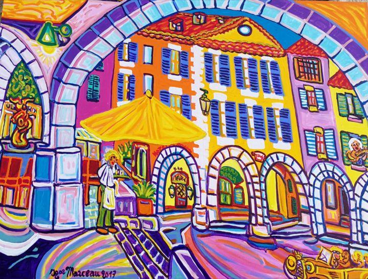 Igor Marceau - La place des arcades de valbonne