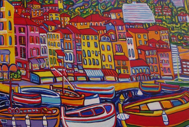 Igor Marceau - Le port de Villefranche sur Mer